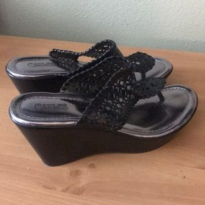 Carlos Santana Shoes - NEW Carlos Santana Wedge Sandals